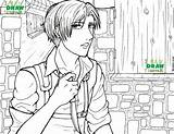 Titan Attack Coloring Pages Levi Ackerman Colouring Printable Aot Adult Sheets Artwork Getcolorings Shingeki Kyojin Etsy sketch template