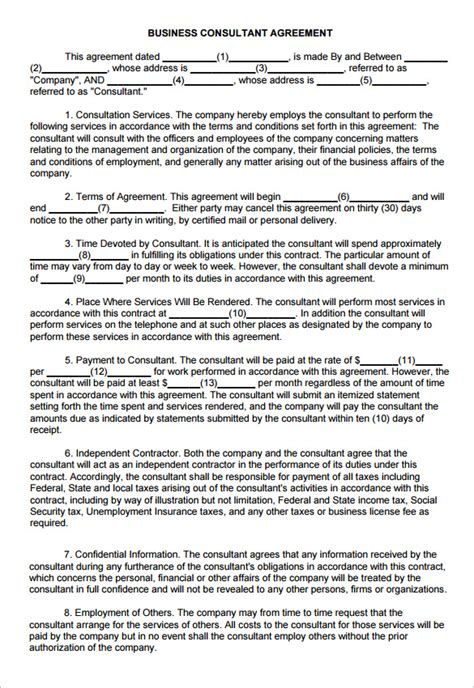 consulting services agreement template 9 consulting contract templates free word pdf documents free premium templates