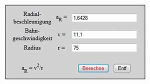 Supremum Berechnen : radialbeschleunigung bahngeschwindigkeit ~ Themetempest.com Abrechnung