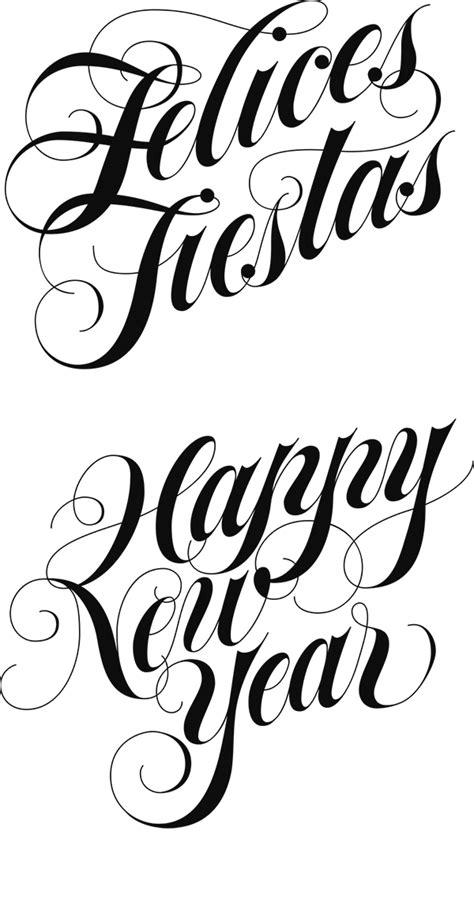 ivan castro calligraphy lettering felices fiestas