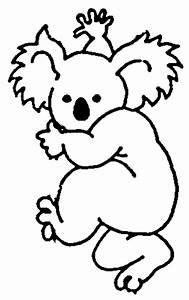Koala Black And White Clipart - Clipart Suggest