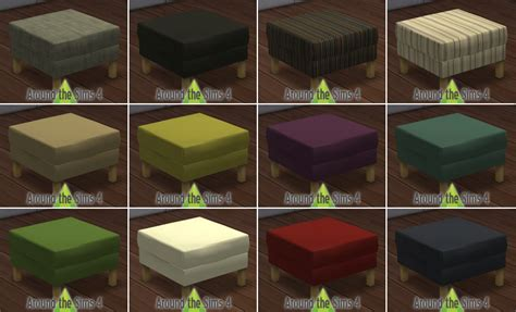 table basse 6 pouf around the sims 4 custom content objects ikea living room