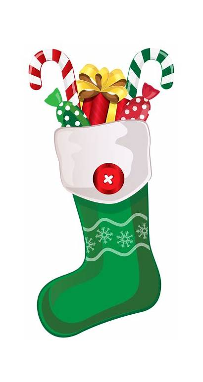 Christmas Clipart Stockings Candy Stocking Holiday Stickers