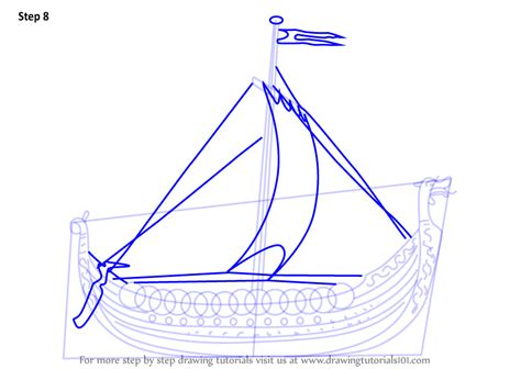 Viking Boats Step By Step by Viking Ship Vector Drawing Viking Ship Diagram