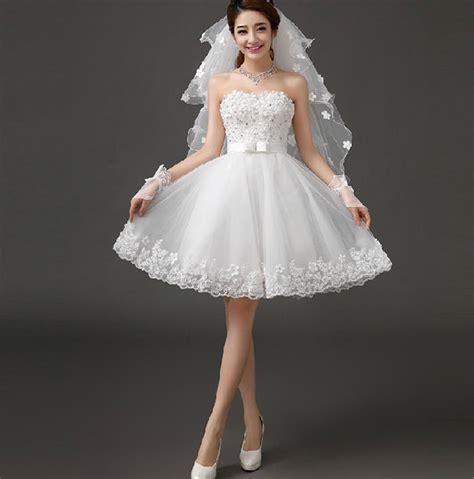With Veil Gloves Short Style Wedding Dress Women's Dress