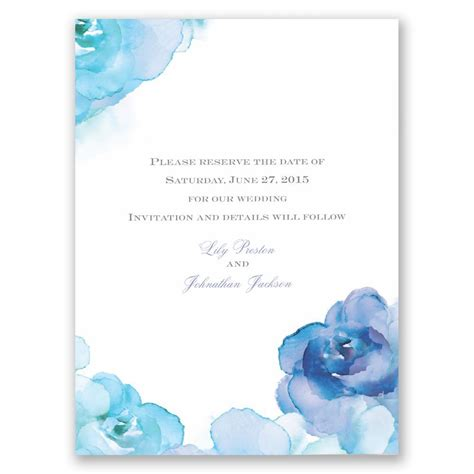 watercolor roses save  date card invitations  dawn