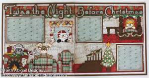 Image of: Twa Night Christma 12 Quot X12 Quot Double Page Scrapbook Layout Faith Abigail Design Easy Treasure Box Designs That You Can Make With Your Kids At Home