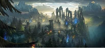 Legends League Lol Landscape Rift Summoners Fantasy