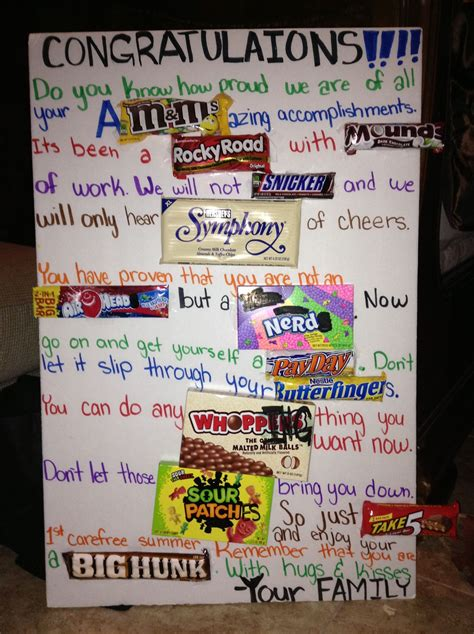 If you are looking for nice birthday cards and happy birthday congratulations as well as ideas how to say happy birthday in some new and original or funny way, we hope that on this page you will find. Congratulation candy card. I actually made this for my brothers college graduation... I stole ...
