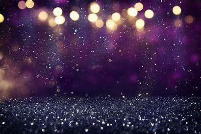 Glitter Header Purple Background Lights Gold Cvca