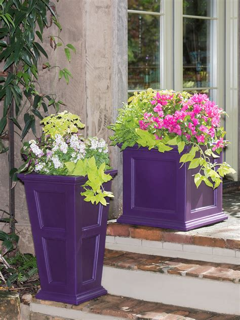 tall planters fairfield  watering patio planter