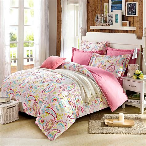 Cliab Paisley Bedding Pink Twin Or Queen For Teen Girls