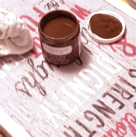 americana decor creme wax tutorial diy handpainted signs with new americana decor chalky