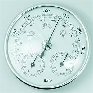130mm Wall Hanging Barometer Weather Thermometer Hygrometer Home 960