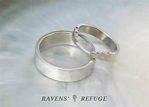 Custom Fit Wedding Band Ravens39 Refuge