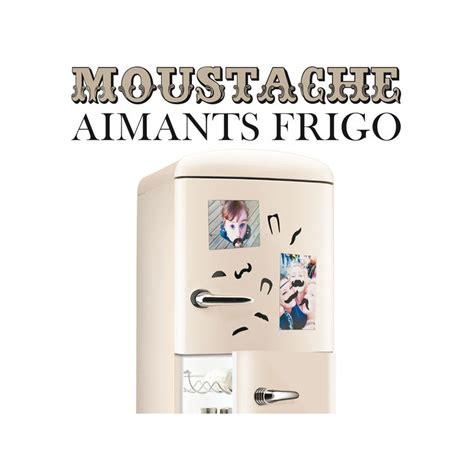 aimants pour frigo moustaches cadeau design sur