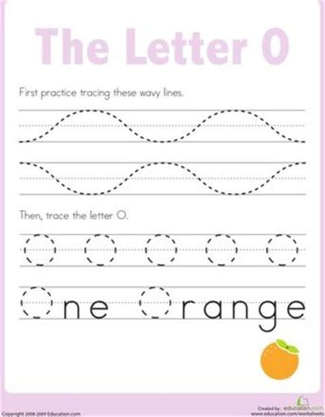 worksheets letter o tracing practice preschool items