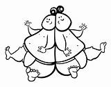 Sumo Wrestler Coloring Template Wrestlers sketch template
