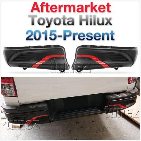 rear bumper guard cover cladding abs for toyota hilux gun1 an120 an130 sr trd oz 769572712338 ebay