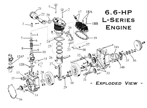 L Engine Diagram by 6 6 Hp Gravely Engine Parts Page