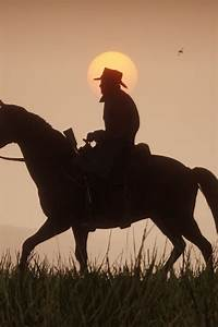 Red Dead Redemption 2  Video Game  Horse Ride  Sunset  720x1280 Wallpaper