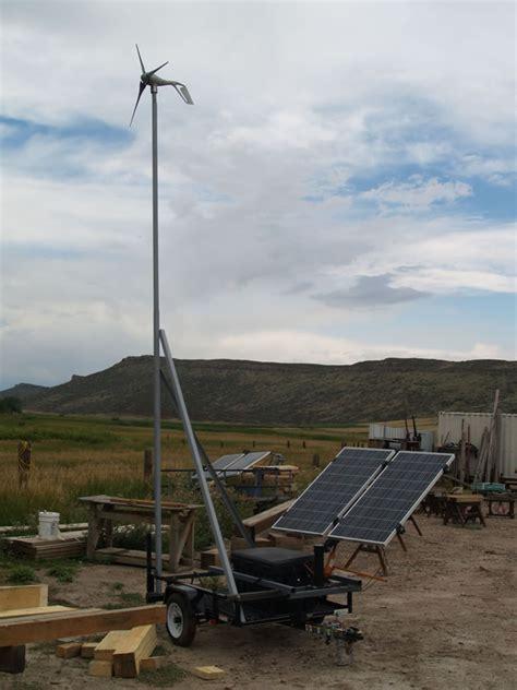 portable solar wind power generator