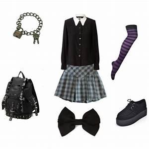 Goth School Uniform - Polyvore