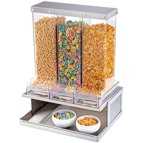 shop sinks and faucets cal mil 3401 55 urban stainless steel 3 bin cereal dispenser