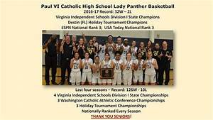 Paul VI Panthers Athletics Girls Varsity Basketball Winter ...