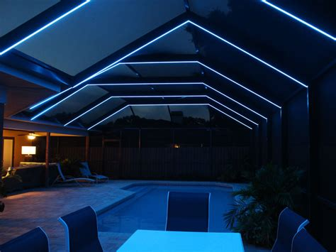 pool enclosure lighting led lighting residential aluminum venice fl