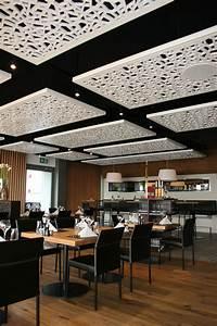 faux plafond restaurant cheap voir la gamme effet marbre With carrelage adhesif salle de bain avec cadre lumineux led vitrine