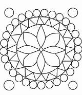 Rangoli Coloring Pages Printable Designs Pattern Diwali Without sketch template