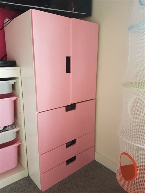 Wardrobe With Drawers Underneath by Toddler Baby Pink And White Ikea Wardrobe