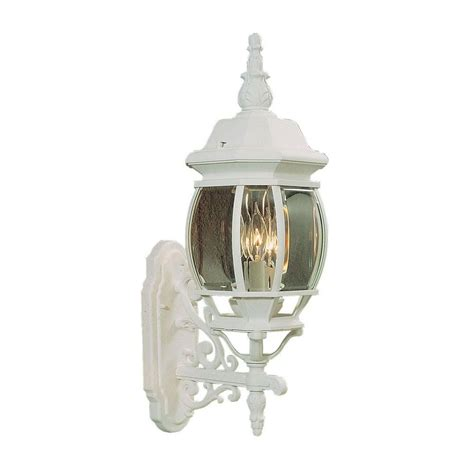 livex lighting providence 3 light white incandescent outdoor wall mount lantern 7524 03 the