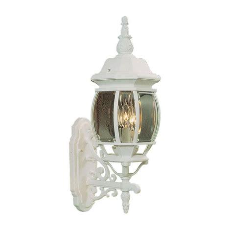 lighting 1 light matte white outdoor wall mount