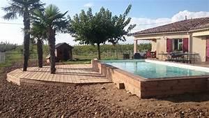 Piscine Semi Enterré Bois : pourquoi choisir une piscine semi enterr e upgo ~ Premium-room.com Idées de Décoration