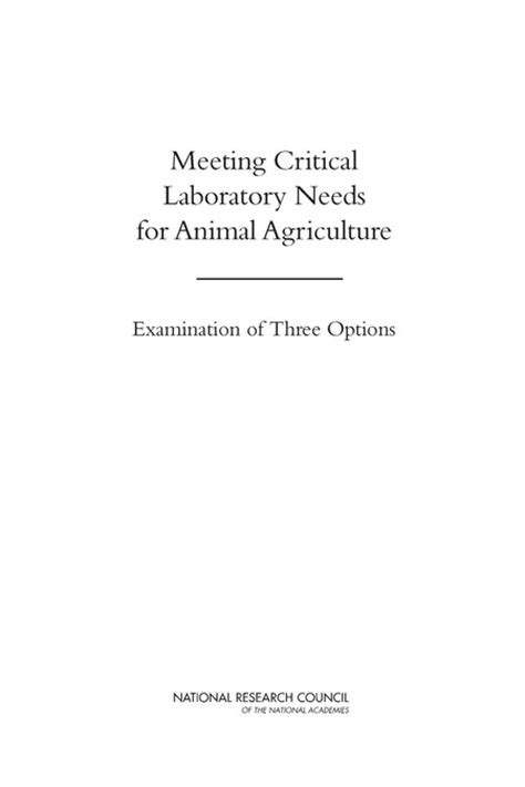 meeting critical laboratory   animal agriculture