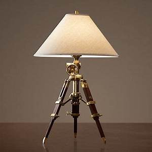 royal marine tripod table lamp antique from restoration With royal marine tripod floor lamp antique brass and brown