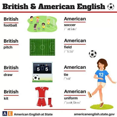 differences  american  british english
