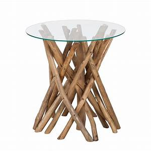 Beistelltische Holz : beistelltisch holz mit glas ~ Pilothousefishingboats.com Haus und Dekorationen