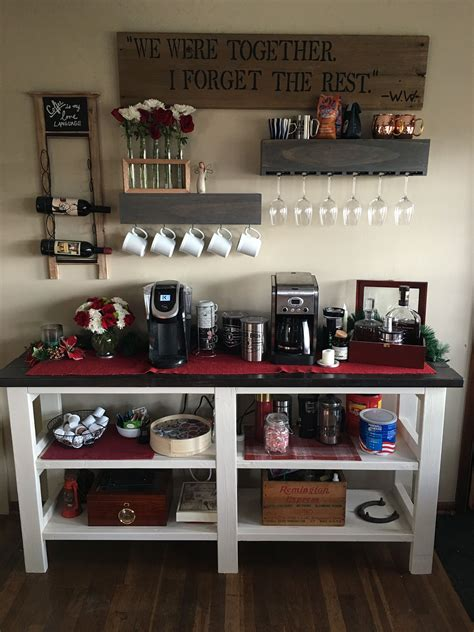 Get inspired by these small home bar ideas that will take you closer to the drink station of your dreams. 25+ DIY Coffee Bar Ideas for Your Home (Stunning Pictures)   Coffee bar home, Diy coffee bar ...