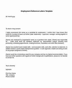 best ideas of 10 employment reference letter templates With providing a reference template