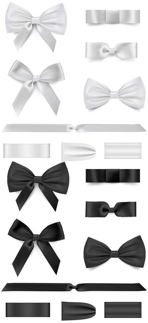 black  white bow ribbon vector vector  vector
