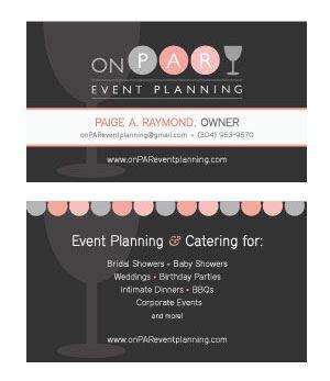 event planning business card idea land  job design