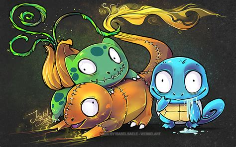Charmander Squirtle Bulbasaur Wallpaper Pokemon Halloween By Tikopets On Deviantart