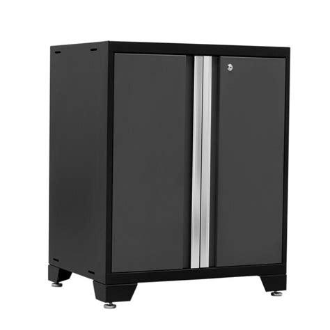 gray l base newage pro series garage base cabinet in gray 676065520021