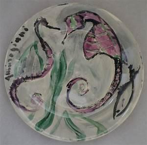 Assiette Originale Moderne : pascal ambrogiani couple d 39 hippocampes assiette originale sign e art moderne ~ Teatrodelosmanantiales.com Idées de Décoration