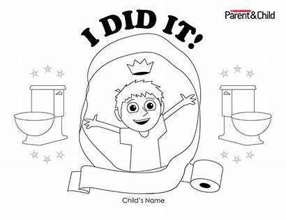 Potty Training Certificate Scholastic Boys Parents Did