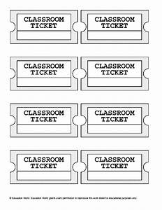 ticket size template images With classroom exit ticket template