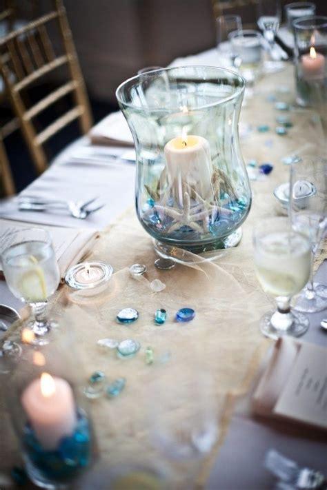 Hochzeit Tischdeko Ideen Meer Thema Windlicht Seesterne